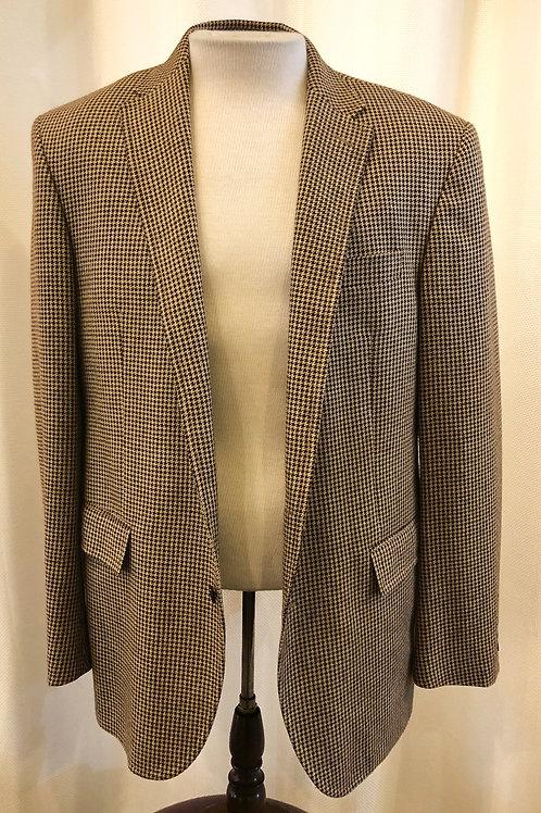 Vintage Brown Ralph Lauren Polo Houndstooth Blazer