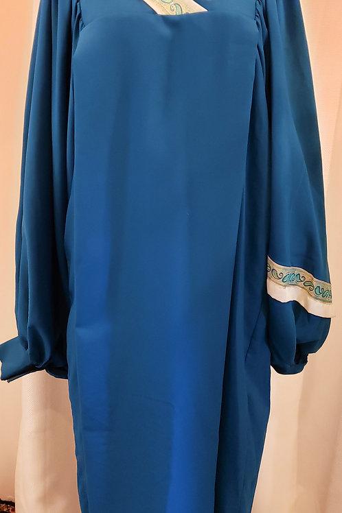 Vintage Blue Embroidered Robe