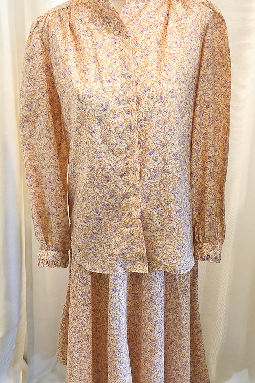 Vintage Floral Two-Piece Evan Picone for Lord & Taylor Set