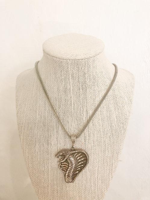 Vintage Cobra Pendant Necklace