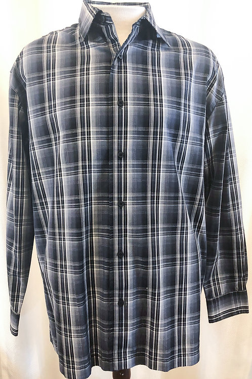 Vintage Plaid Pierre Cardin Button Down