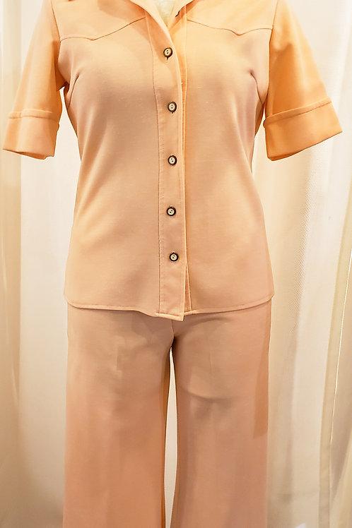 Vintage Peach Two-Piece Carol Anderson Set