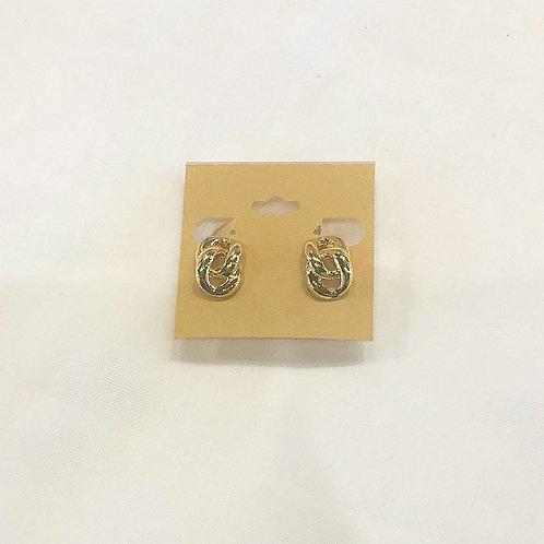 Vintage Small Gold Linked Screw-back Earrings