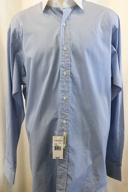 Vintage Blue and White Gingham Ralph Lauren Polo Button Down