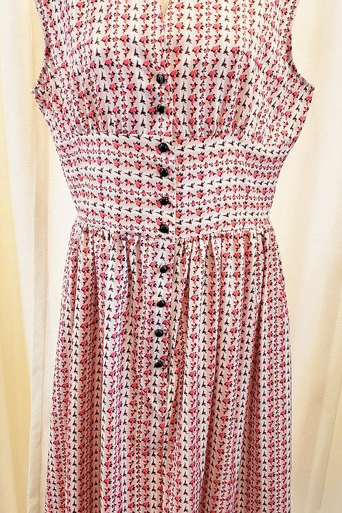 Vintage-Inspired Pink Floral Dress