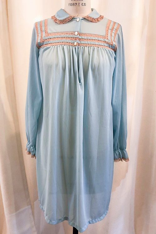Vintage Blue Avian Nightgown