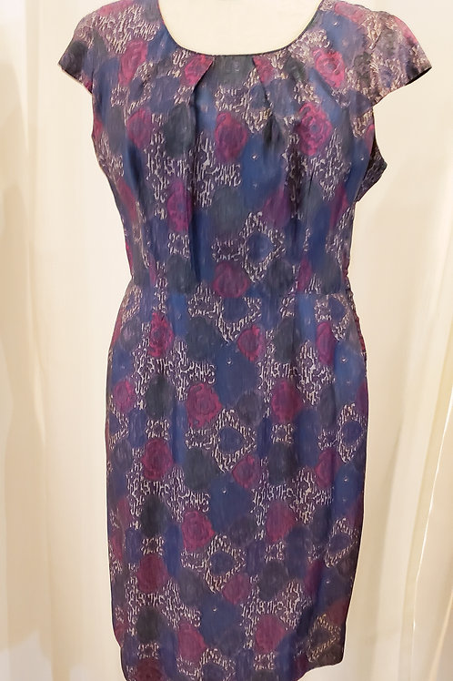 Vintage 1960s Purple Patterned Dress