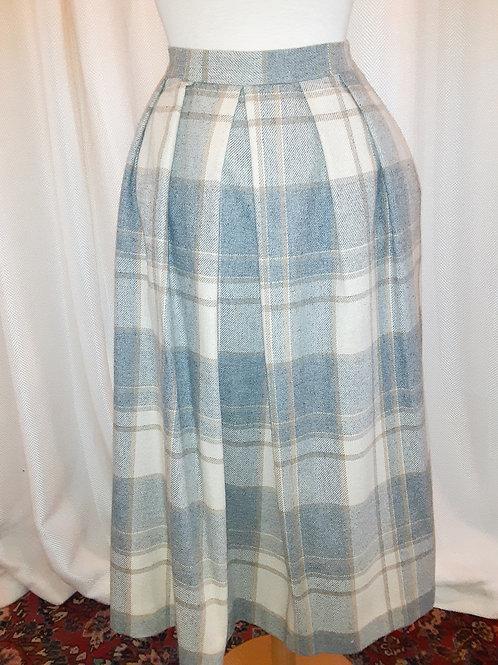 Vintage Wool Plaid Koret Skirt