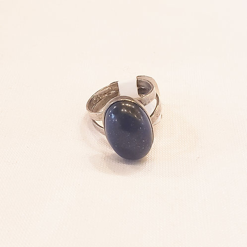 Vintage Navy Oval Ring
