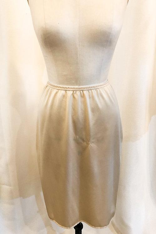 Vintage White Slip with Side Slit