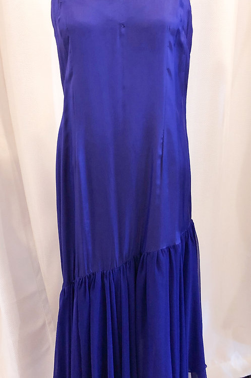 Vintage Purple Oleg Cassini Asymmetrical Nightgown
