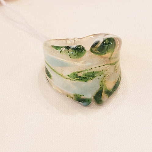 Vintage Green Handmade Ring