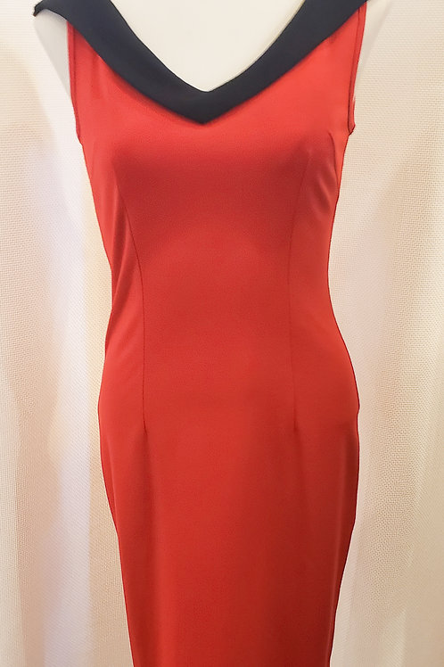 Vintage-Inspired Red Sleeveless Dress