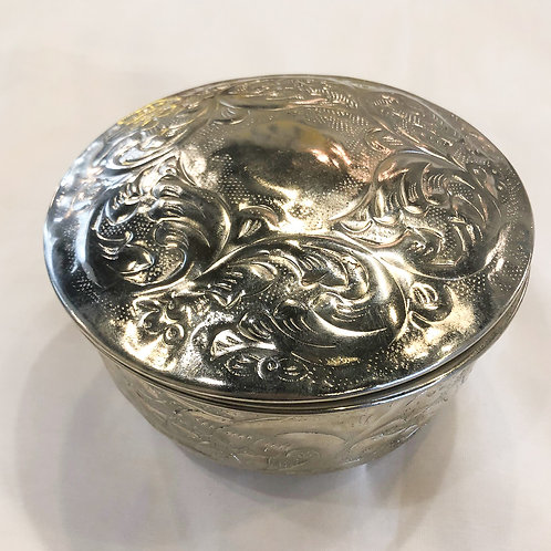 Vintage Silver Patterned Box