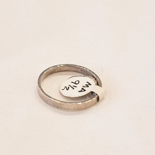 Vintage Sterling Silver Thin Ring