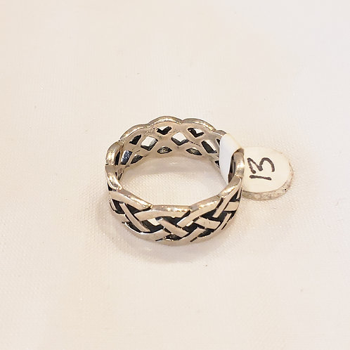 Vintage Sterling Silver Braided Ring