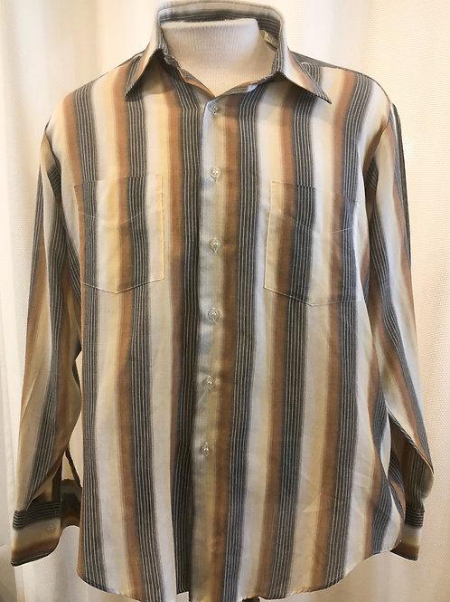 Vintage Striped Campus Button Down