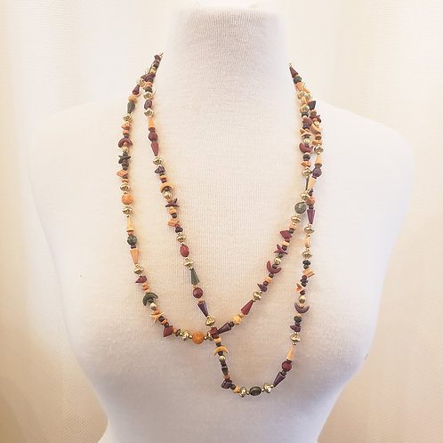 Vintage Multicolored Beaded Necklace