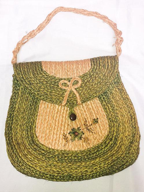 Vintage Handmade Woven Purse