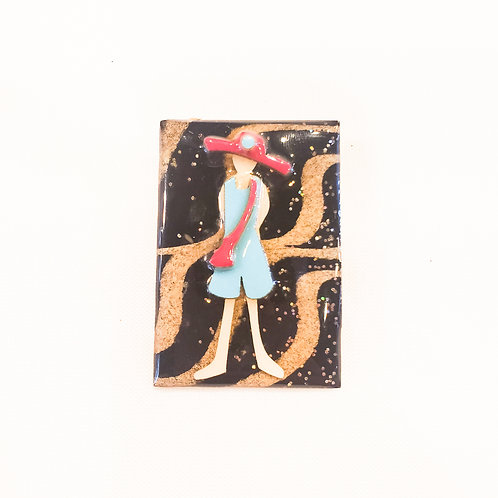 Vintage Character Brooch