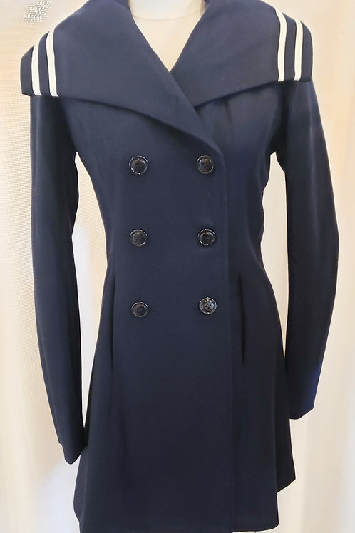 Vintage-Inspired Navy Nautical Coat