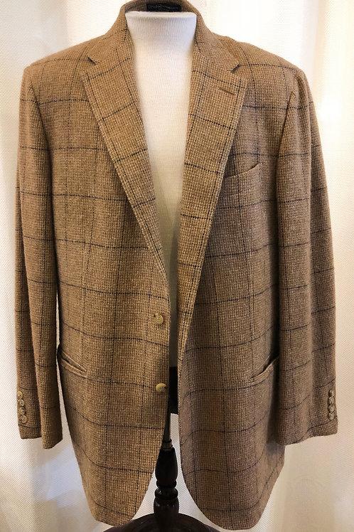 Vintage Tan Checked Ralph Lauren Polo Blazer