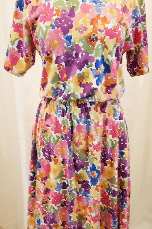 Vintage Multicolored Floral Eddie Bauer Dress