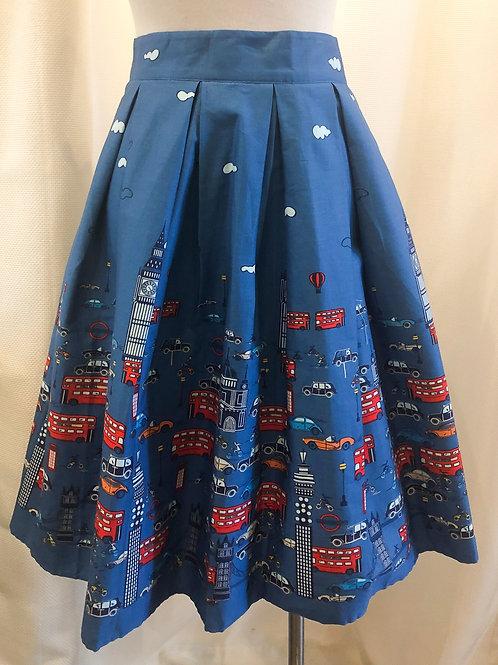 Vintage-Inspired London Transportation Skirt