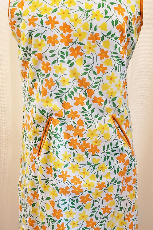 Vintage Yellow and Orange Floral Tanner Dress