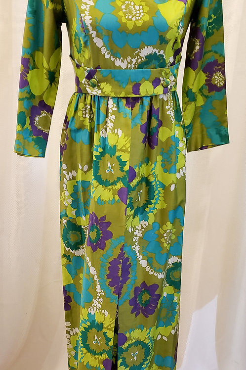 Vintage Green Paradise Hawaii Dress
