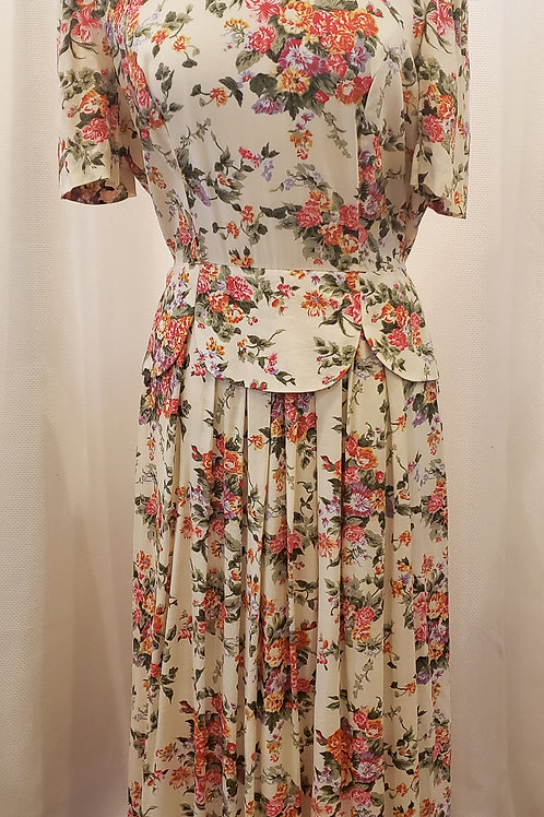 Vintage Floral Peplum Lisa II Dress