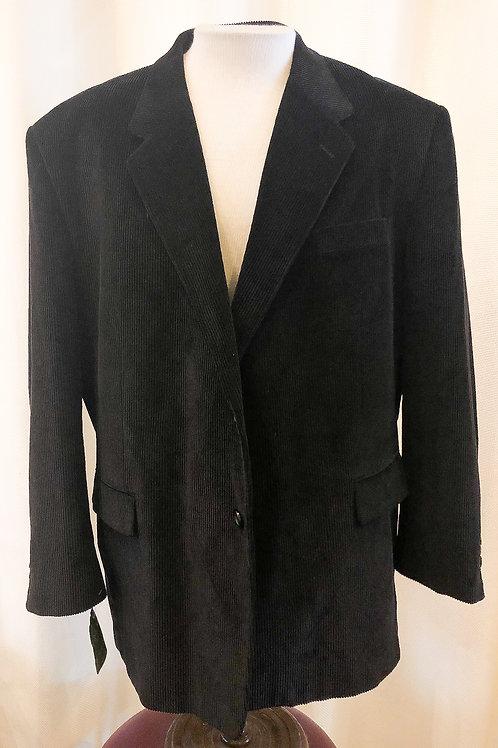 Vintage Black Velvet Corduroy Meeting Street Blazer