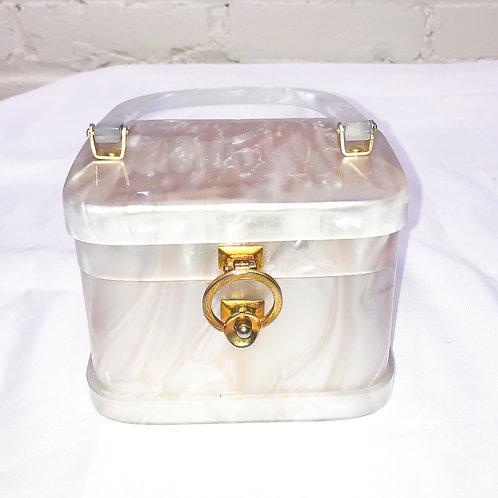 Small Vintage Lucite Box Purse