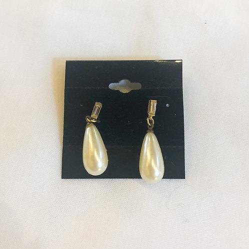 Vintage Pearl Teardrop Earrings