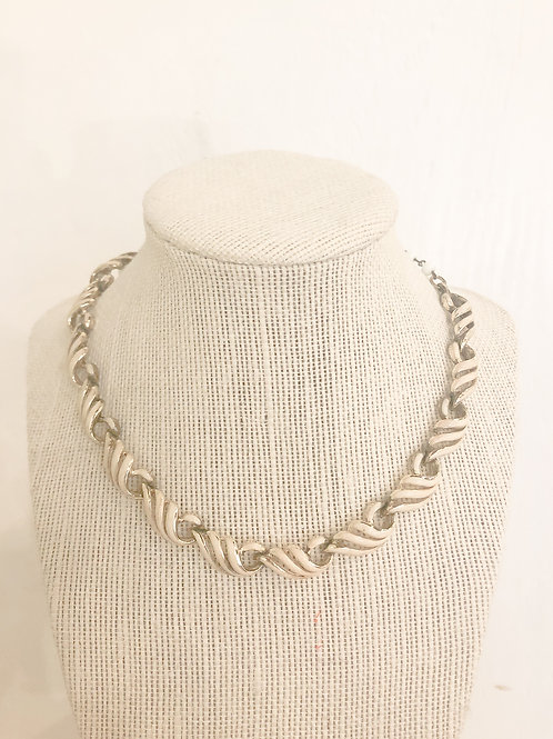 Vintage White and Gold Choker