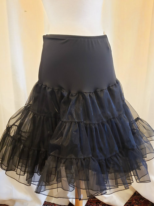 Vintage-Inspired Black Petticoat