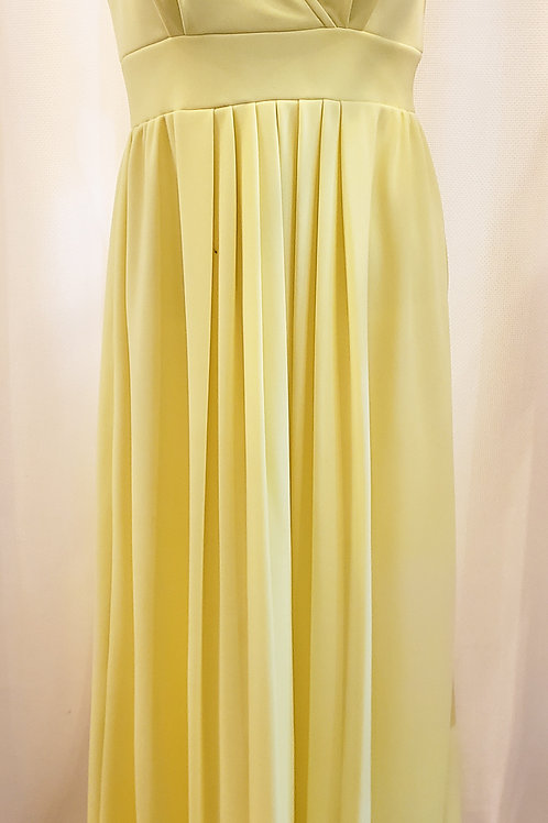 Vintage Yellow Handmade Halter Dress