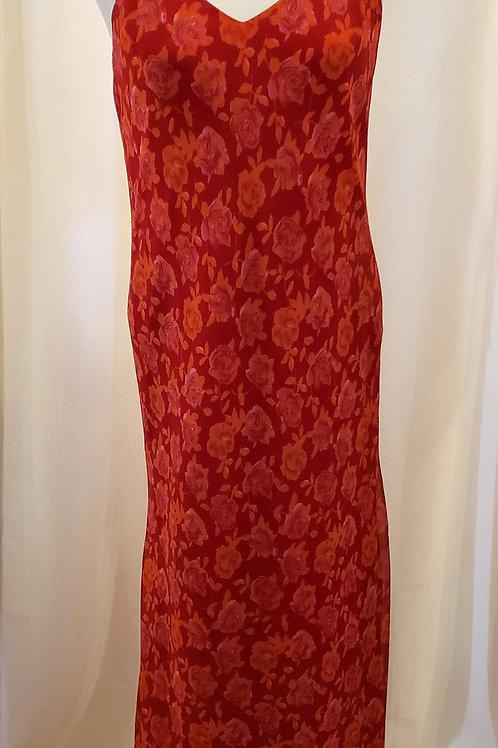 Vintage Red Floral Tu Lips Dress