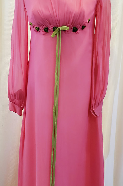 Vintage Pink Empire Waist Dress