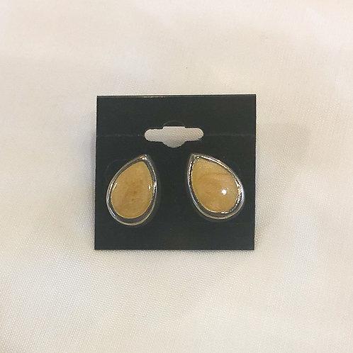 Vintage Yellow Teardrop Earrings