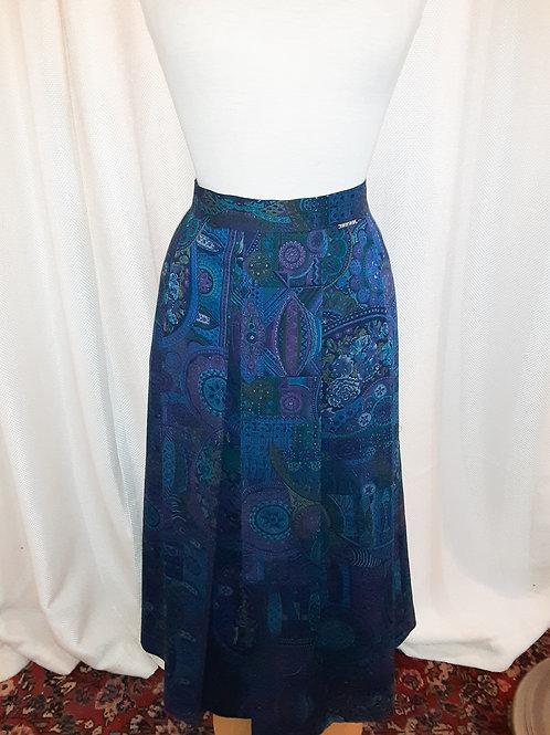Vintage Blue and Purple Geiger Skirt