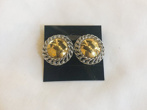 Vintage Gold and Silver Statement Studs