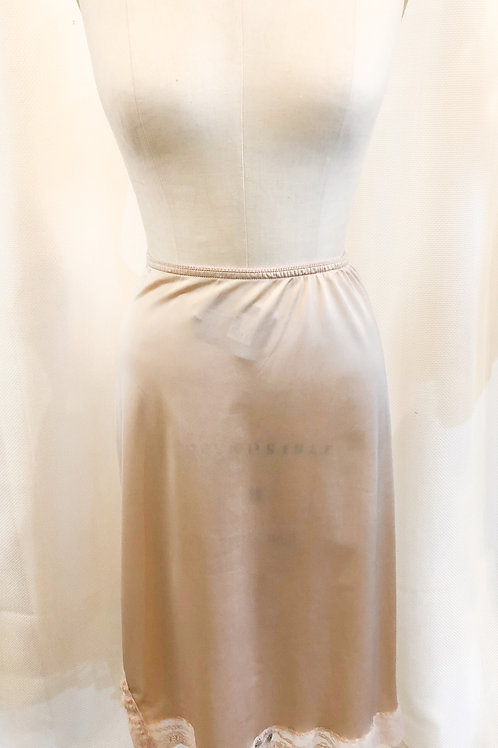 Vintage Pink Slip with Lace Trim