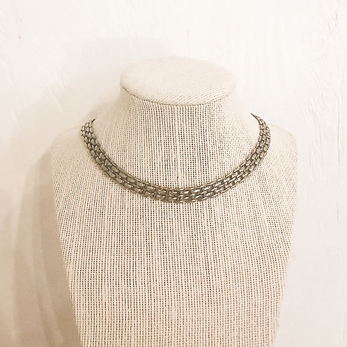 Vintage Silver Chainlink Choker