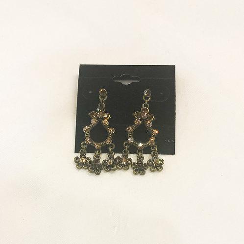 Vintage Floral Chandelier Earrings
