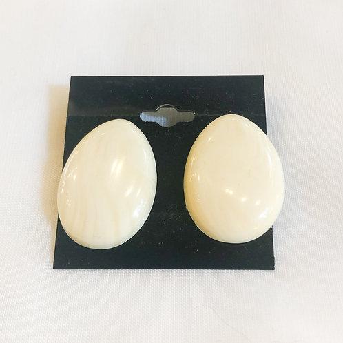 Vintage Ivory Statement Earrings