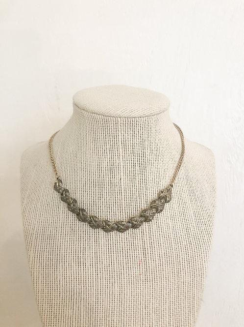 Vintage Silver Patterned Choker