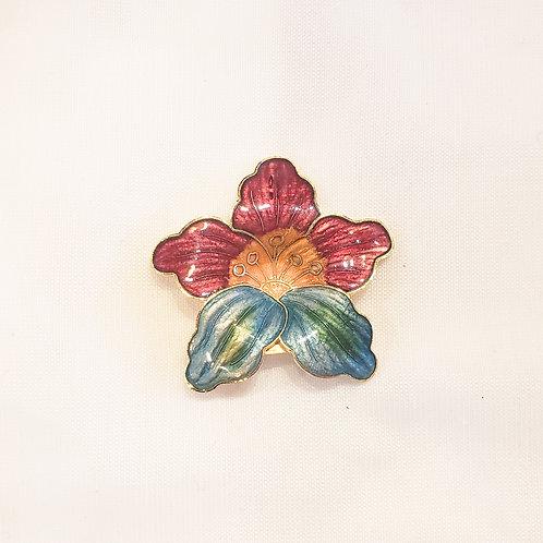 Vintage Rainbow Flower Brooch