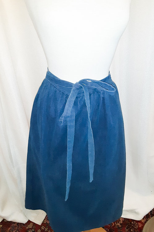 Vintage Handmade Denim Wrap Skirt