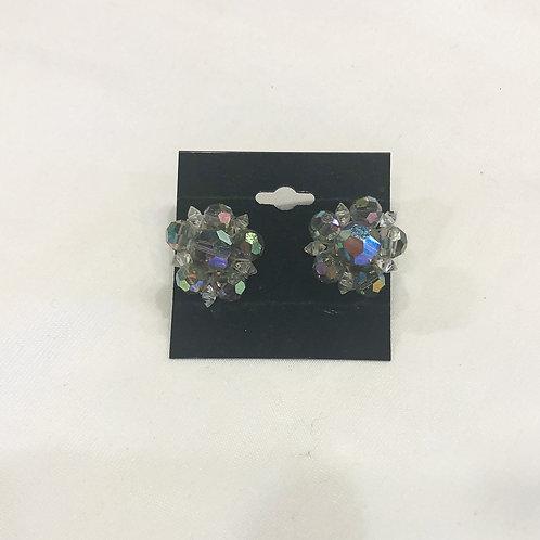 Vintage Flower Cluster Clip-On Earrings